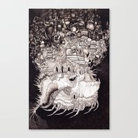 Astral Airlines Canvas Print