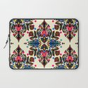 Bright Folk Art Pattern - hot pink, orange, blue & green Laptop Sleeve
