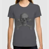 Hacker Skull And Crossbo… Womens Fitted Tee Asphalt X-LARGE