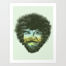 Happy Trees Art Print