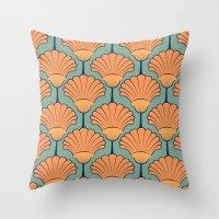 Deco Shells Throw Pillow