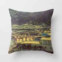 Beach In Amalfi, Italy Throw Pillow