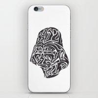 Darth Vader [Black on White] iPhone & iPod Skin