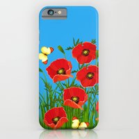 Poppies and butterflies iPhone 6 Slim Case