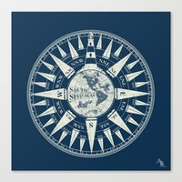 Sailors Compass Canvas Print