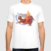 BEAST EATING MONSTER  Mens Fitted Tee White SMALL
