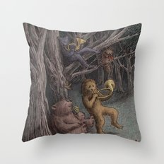 Forest Music  Throw Pillow