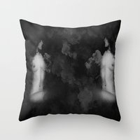 To Be Or Not To Be Blk&White Grunge  Throw Pillow