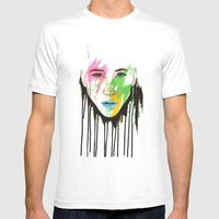 I C U Mens Fitted Tee White SMALL