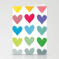 Heart pattern art  Stationery Cards