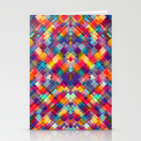 Squares Everywhere Stationery Card