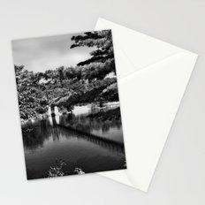 Androscoggin Swing Bridge (black and white) Stationery Cards