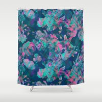 Geometric Floral Shower Curtain