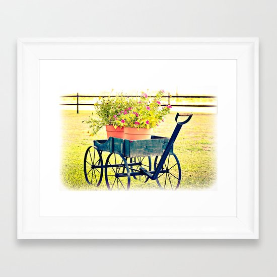 Blooming Wagon Framed Art Print