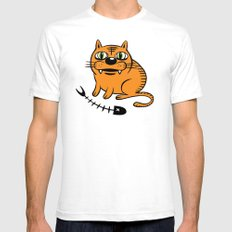 FAT CAT White Mens Fitted Tee SMALL