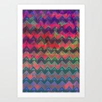 RHYTHM - Rainbow Ombre Art Print