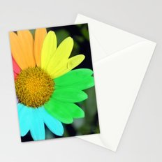 colorful daisy Stationery Cards