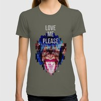 Monkey need love Womens Fitted Tee Lieutenant SMALL
