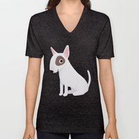 Bull Terrier - Cute Dog Series Unisex V-Neck