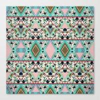 AQUA KALEIDOSCOPE  Canvas Print
