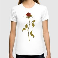 rose T-shirts featuring Rose by Abigail Larson