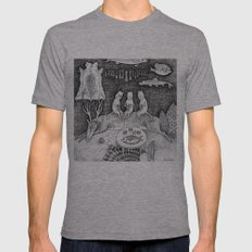 Knitting Cats Mens Fitted Tee Athletic Grey SMALL