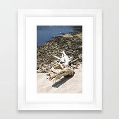 Sand Beach Framed Art Print