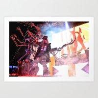 Zombie Staredown Art Print