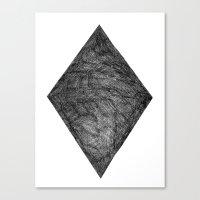 Graphite Diamond Canvas Print
