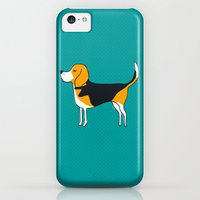 iPhone 5c Cases featuring Beagle by MaJoBV