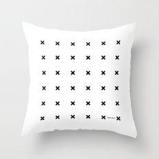 Black X on White Throw Pillow