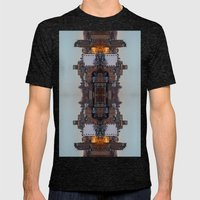 New York Symmetry  Mens Fitted Tee Tri-Black SMALL