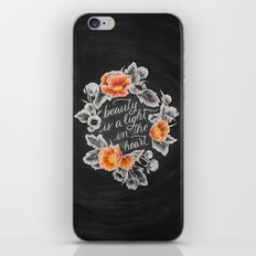 Beauty is a Light in the Heart iPhone & iPod Skin