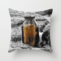 Message In A Bottle Swe… Throw Pillow