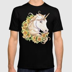 Unicorn Black SMALL Mens Fitted Tee