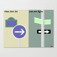 Les Directions Canvas Print