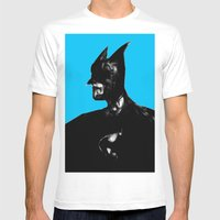 Dark Knight Mens Fitted Tee White SMALL