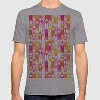 Geostripe Mens Fitted Tee Athletic Grey SMALL