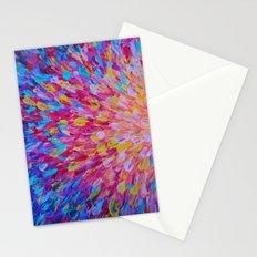 SPLASH, Revisited - Bold Beautiful Feminine Romance Ocean Beach Waves Magenta Plum Turquoise Crimson Stationery Cards