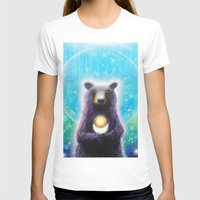 Bear Womens Fitted Tee White SMALL
