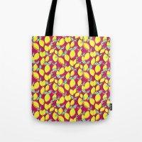 Lemon and pink Tote Bag