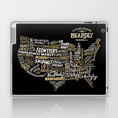 UNITE STATES OF BEARDLY - BLACK Laptop & iPad Skin