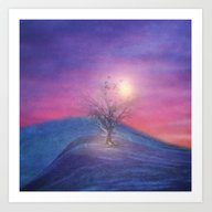 Lone Tree Love III Art Print