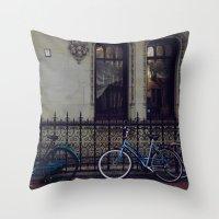Bikes In Amsterdam Throw Pillow