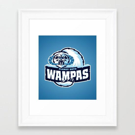 Planet Hoth Wampas - Blue Framed Art Print
