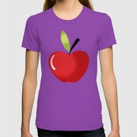 APPLE Womens Fitted Tee Ultraviolet SMALL