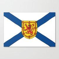 Canvas Print featuring The Flag of Nova Scotia  by Adam Cavill
