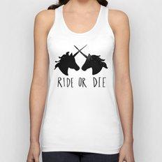 Ride or Die x Unicorns Unisex Tank Top