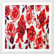 Red Roses Design Art Print