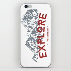 EXPLORE THE UNSEEN iPhone & iPod Skin